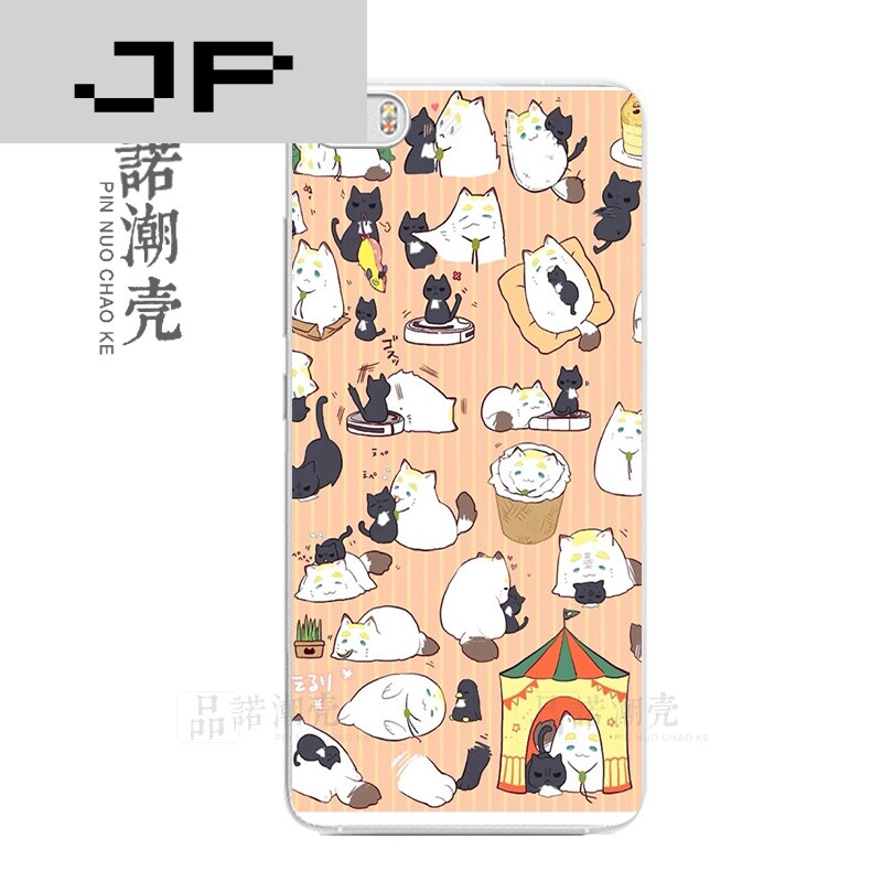 5手机壳max超薄软壳红米note4x手绘插画日韩搞怪猫咪 小米5q版一堆狗