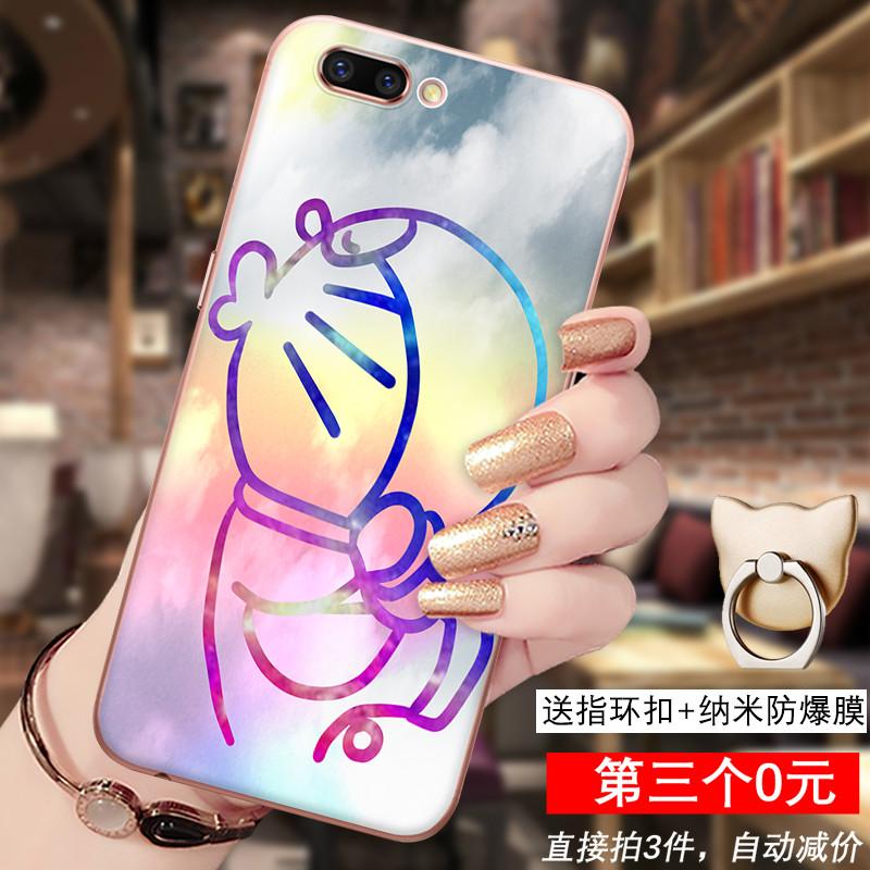 oppo r11手机壳 r11手机套防摔保护套硅胶卡通浮雕彩绘软壳潮 亲吻