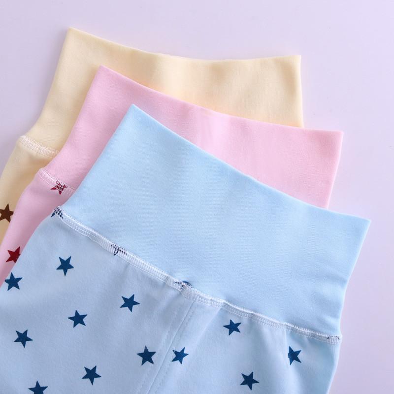 色底星星棉毛高腰裤 110cm 7090白底星星蓝色