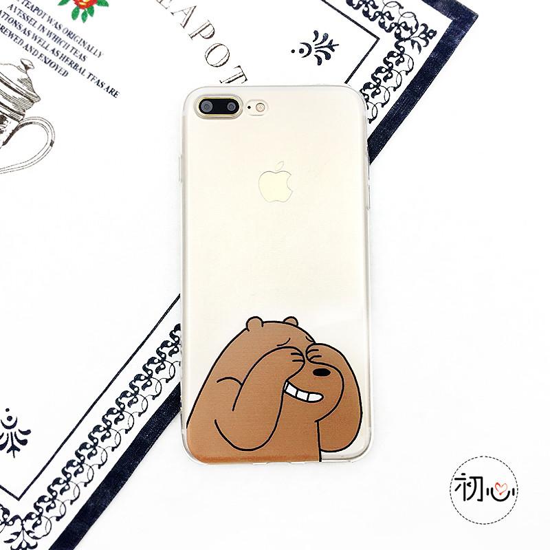 款可爱咋们裸熊图片7手机壳iPhone7plus苹果创微信v图片个性表情图片