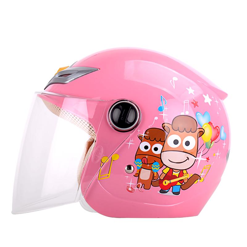 野马四季儿童头盔 男女童电动车摩托车安全帽 冬季可爱卡通半盔206