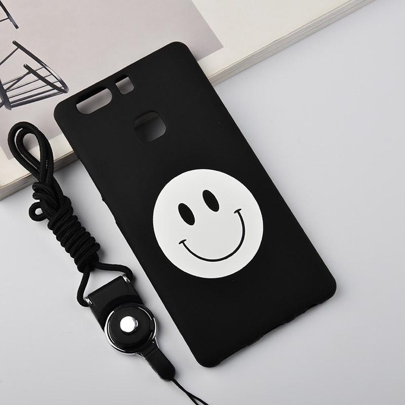 华为p9透明手机壳带挂绳EVA-AL10防摔保护套星爷搞笑微信表情包GIF图片