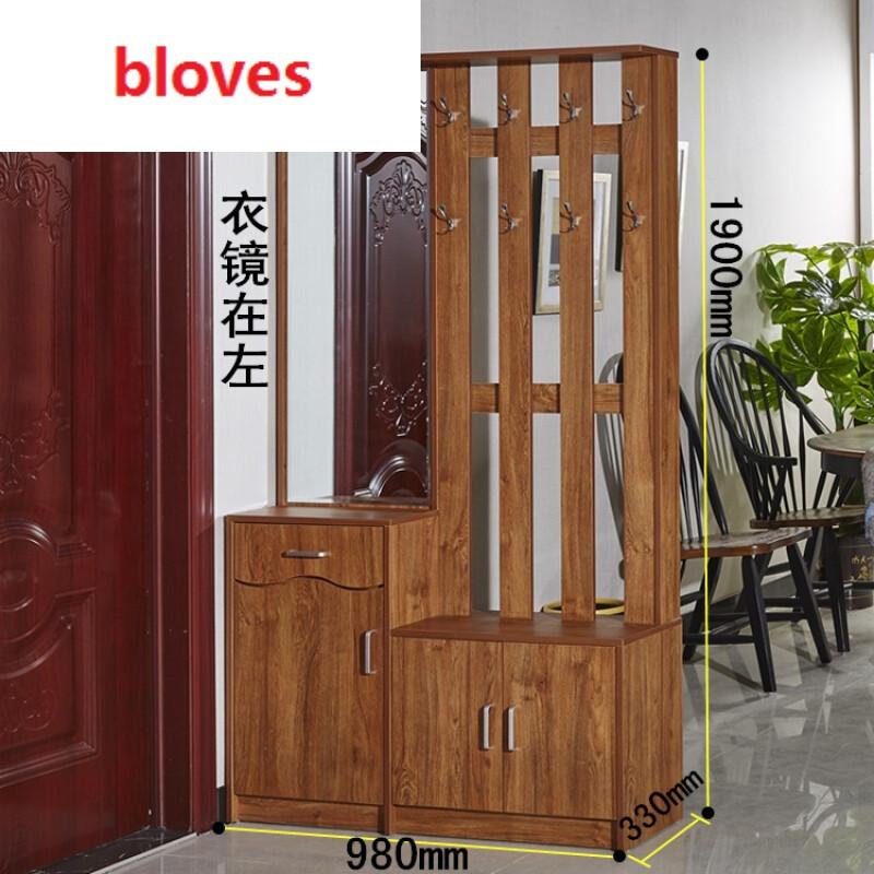 bloves-门厅玄关多功能隔断衣帽柜储物鞋柜带挂衣架组合客厅换鞋凳