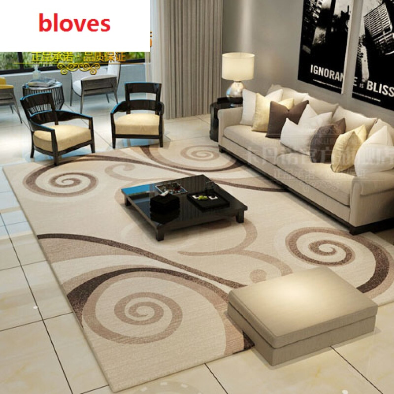 简约客厅地毯美式欧式沙发茶几垫卧室房间床边地毯d1121j精装加厚款