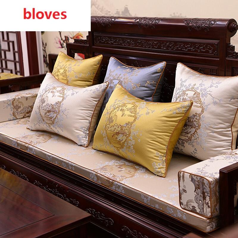bloves-中式实木沙发垫红木坐垫梅花罗汉床垫太师椅垫加厚海绵垫 30x4