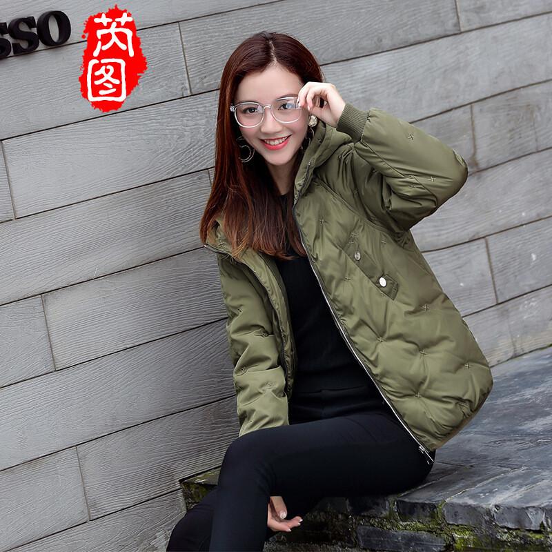 芮图2017冬季新款少女棉学院女生风学生外套羽绒双鱼座表现吃醋图片