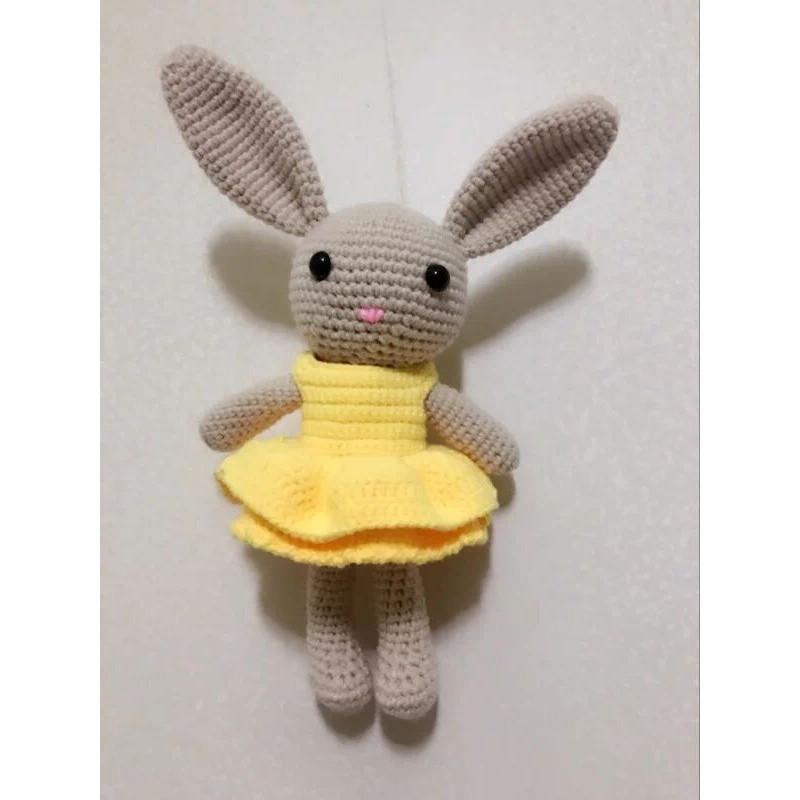 110新款燕子编织长耳兔手工diy钩针编织牛奶棉毛线玩偶娃娃材料包送