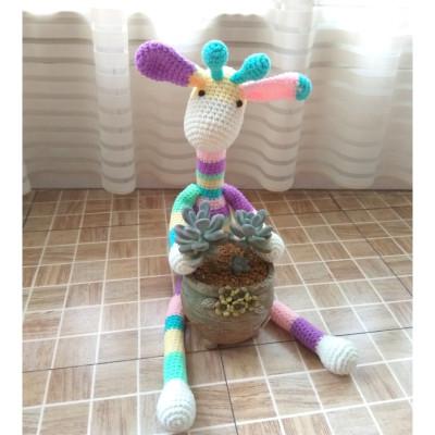 110新款钩针毛线编织长颈鹿钩针编织钩织毛线娃娃玩偶