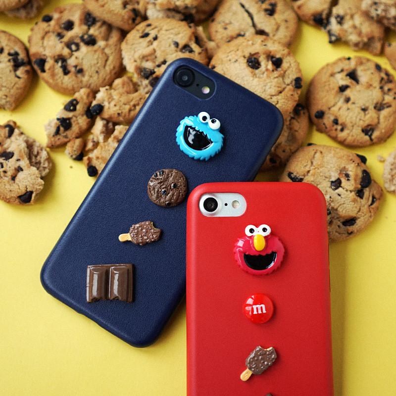 苹果手机壳6s韩国可爱卡通芝麻街diy情侣立体iphone6女款7plus软907