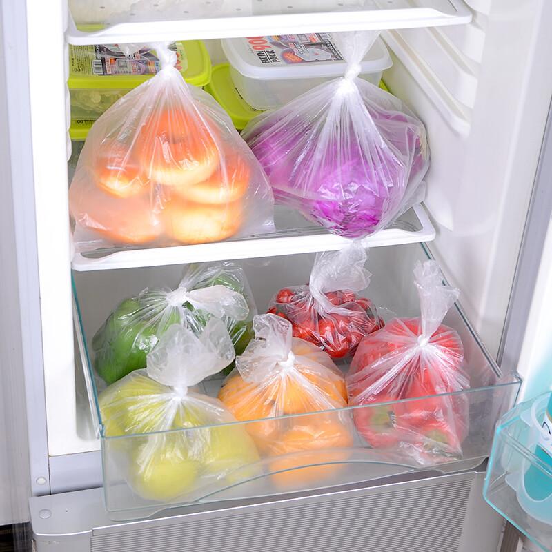 厨房食物保鲜袋蔬菜水果包装袋商店食品袋保鲜袋100个装m号100枚入1_3