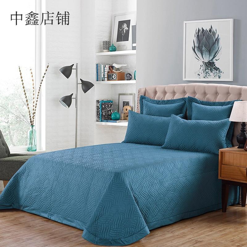 欧式绗缝夏凉被床盖床罩单件加厚夹棉床单被盖三件套 245*260床盖三