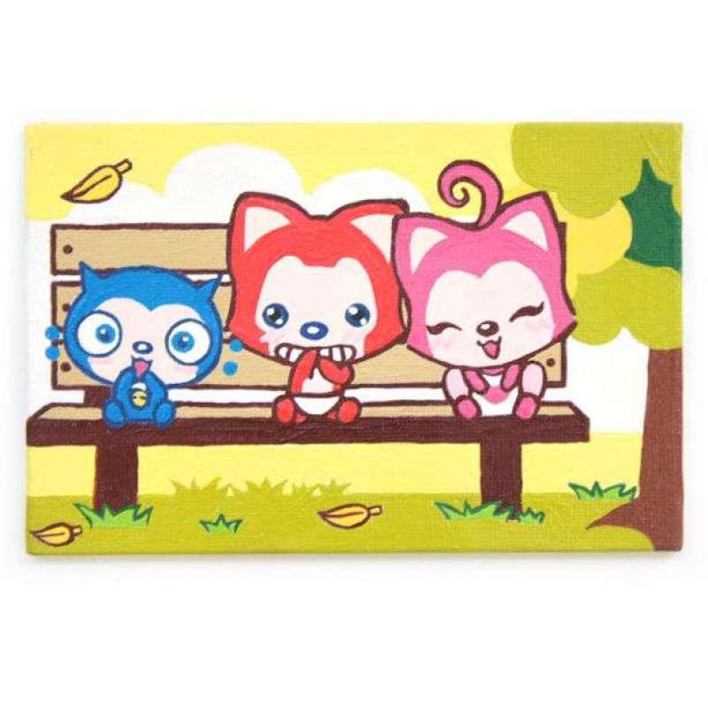 母婴 玩具 动漫电影周边  影视卡通周边 阿狸 阿狸手绘数字油画-秋天