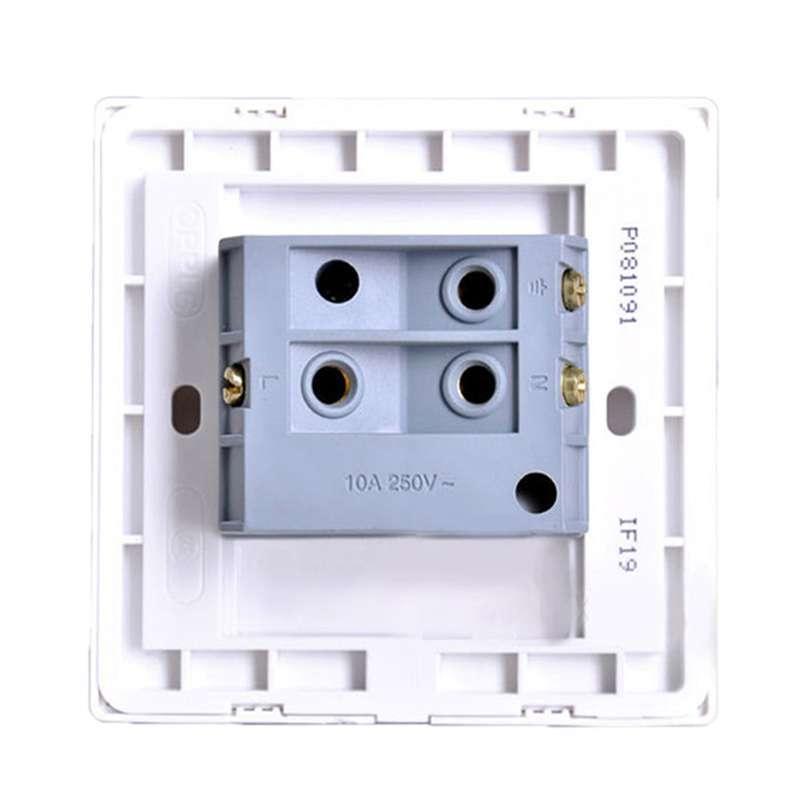 欧普单开三孔插座接线图