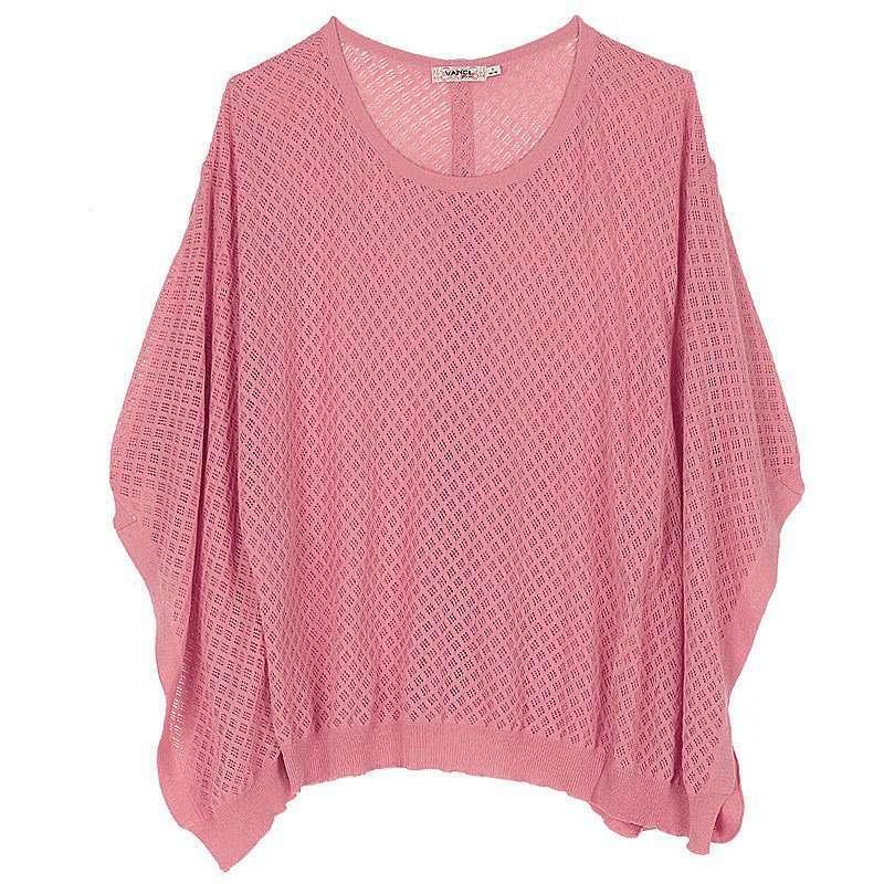 粉红色披肩毛衣搭配图片