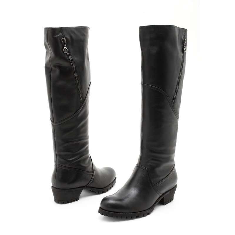 服装鞋帽 女鞋 靴子 senda 森达冬季黑牛皮女高靴4m.  上一张 下一张