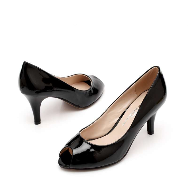 senda 森达2012春季黑漆牛女单鞋3cn60d 37