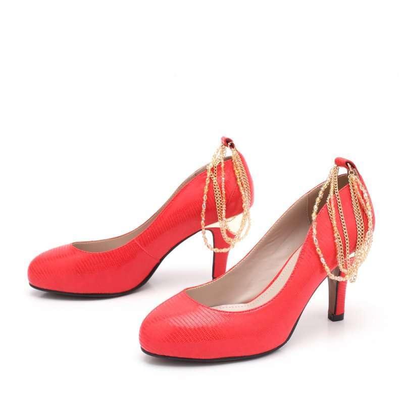 senda 森达2012春季红纹羊女单鞋4iy61d 36