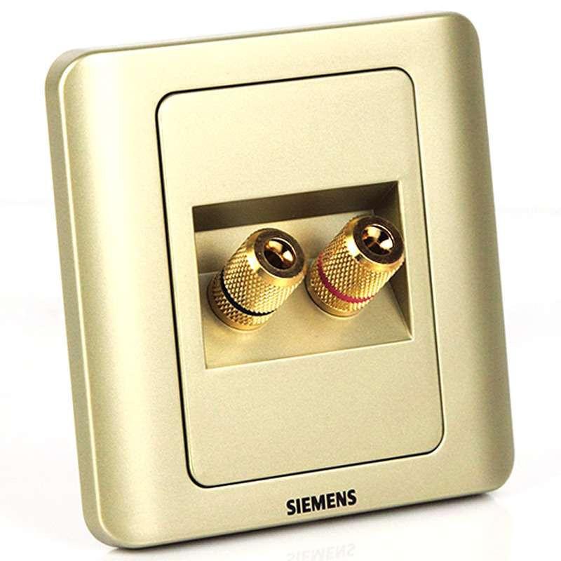 西门子远景金棕色双接线柱音响插座5tg01171cc133