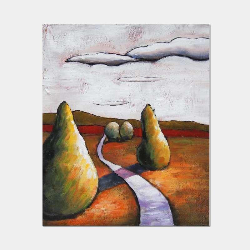 in-life/宜生活纯手绘油画 p30044 《恬静的云》欧式风格装饰油画 50*