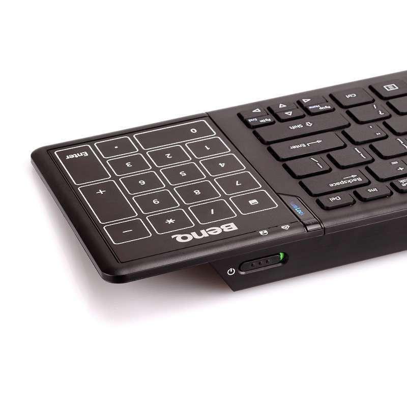 5英寸触摸板,明基KE920 2.4G无线触控键盘¥199