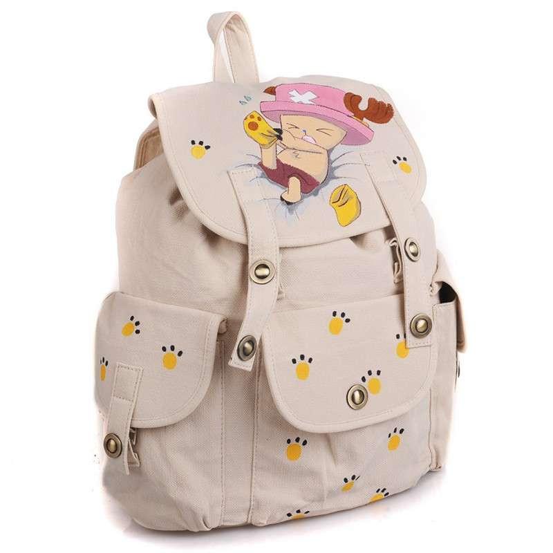 城市公主手绘动漫周边产品乔巴手绘双肩包后背包休闲双肩包学生背包