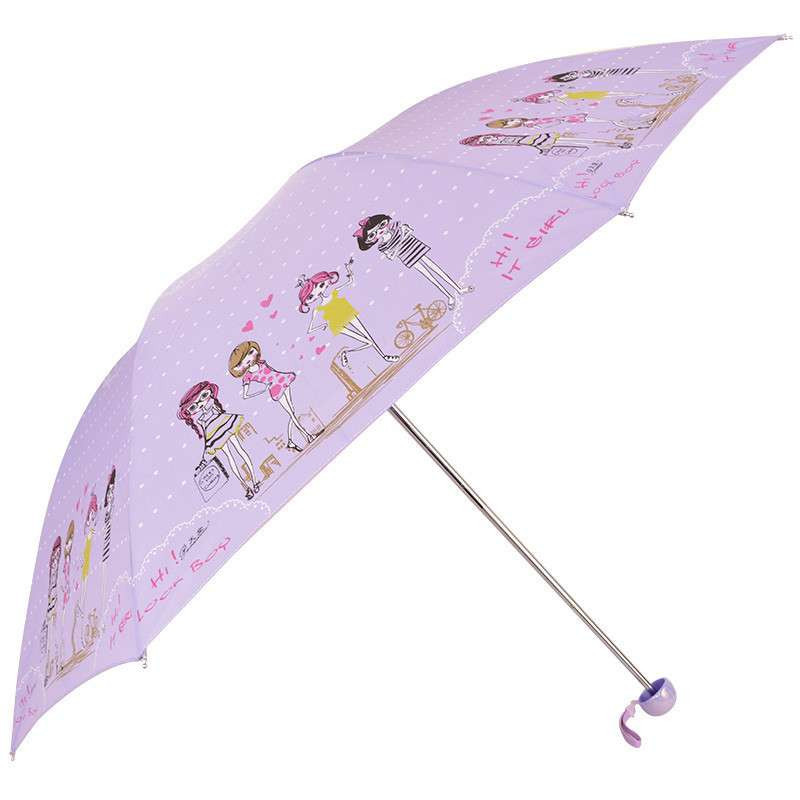 雨伞女生手绘图片