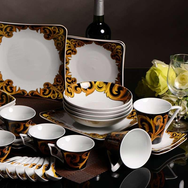 精品餐具出口级38头餐具套装欧式结婚送礼特色创意