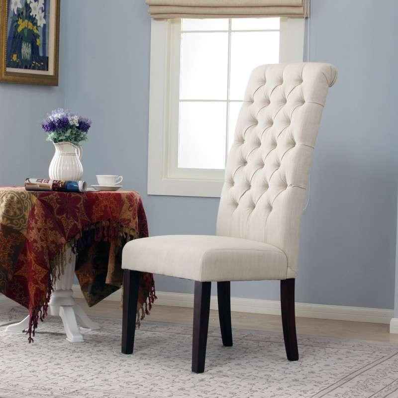 【百伽】george chair 美式布艺/高靠背餐椅/酒店会所图片