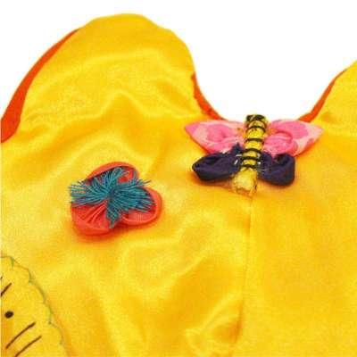 小鸡啄米 传统手工绣花虎头帽子 宝宝婴儿老虎满月百天周岁礼品 黄色
