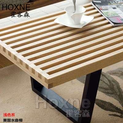 霍客森 nelson bench 纳米尼亚长木凳 实木电视柜 床尾凳 长条几 胡.