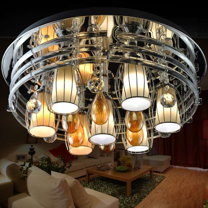 晶映杯状水滴形欧式现代简约led水晶灯吸顶灯客厅餐厅卧室灯饰具