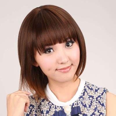 甜美可爱型短发修脸齐刘海