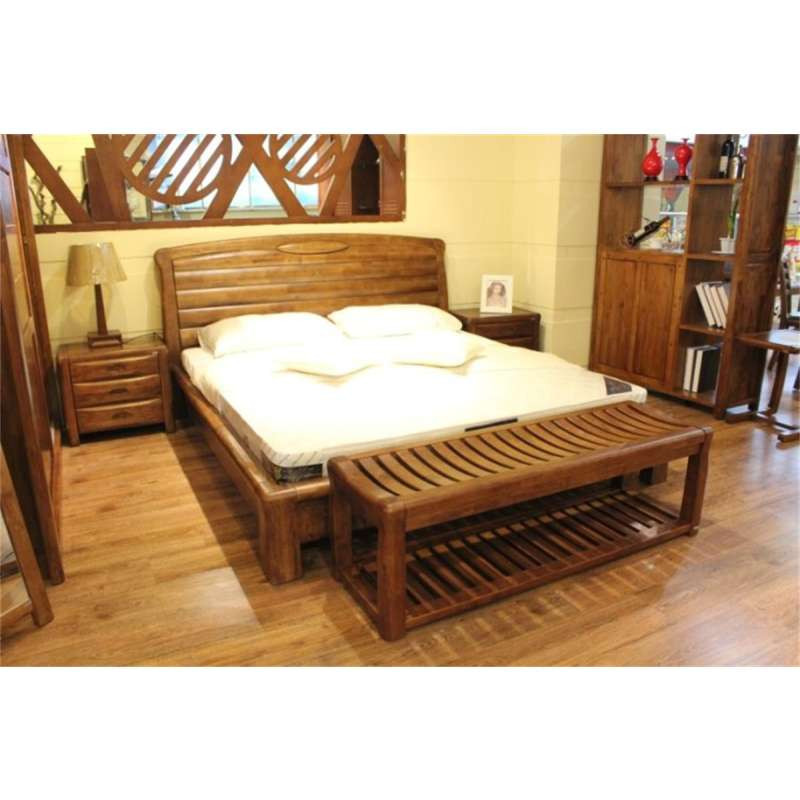 实木床尾凳简约中式实用床边凳长凳