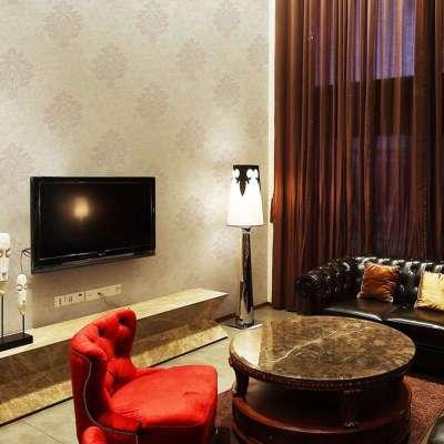 欧式两版发泡无纺布除甲醛墙纸卧室客厅电视床头背景
