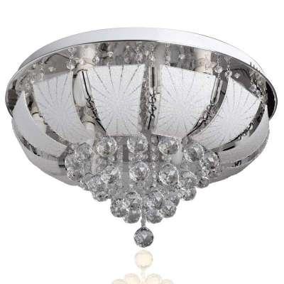 欧式led水晶灯客厅卧室餐厅圆形透明吸顶灯具灯饰-苏