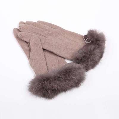 【乐为服装配饰】乐为手套女士冬季可爱羊毛手套可爱