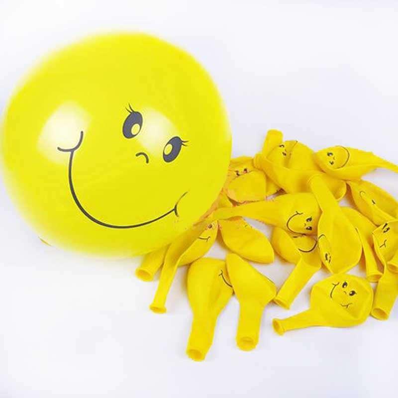 笑脸乳胶气球/1个