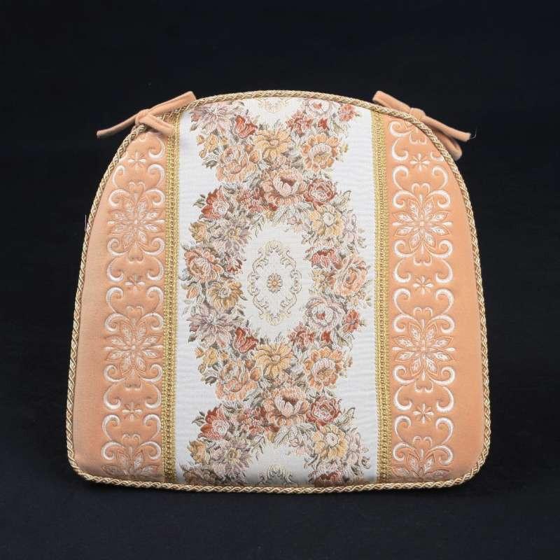 欧式绣花马蹄形椅垫