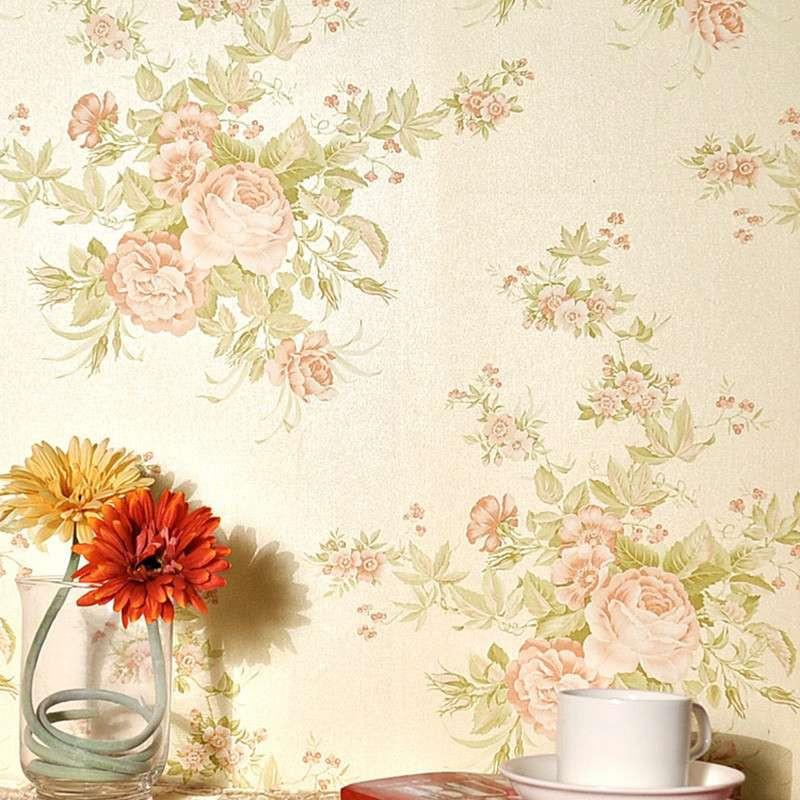 纸尚美学墙纸 欧式田园 无纺布大花ca30811客厅卧室背景壁纸图片