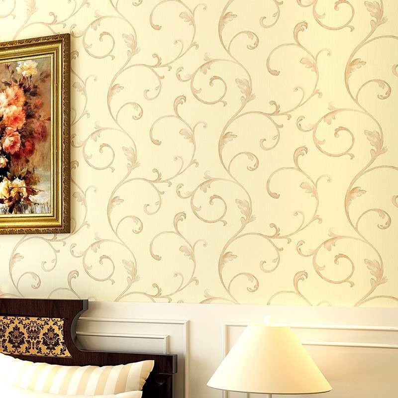 欧式客厅电视背景墙 卧室温馨壁纸