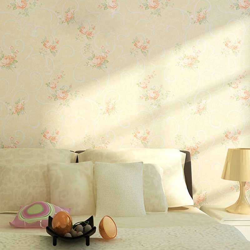 纸尚美学无纺布墙纸 美式田园 ha33015彩铅手绘风格客厅卧室壁纸图片