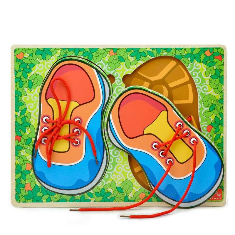 特宝儿 亲子教具 系鞋带拼板穿线玩具 儿童益智玩具3岁以上