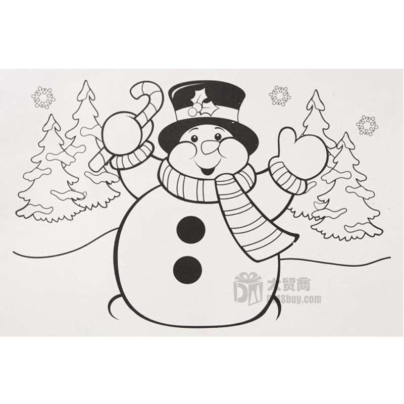 圣诞雪人 临摹本 蜡笔画 儿童绘画 画册套装 ss00442