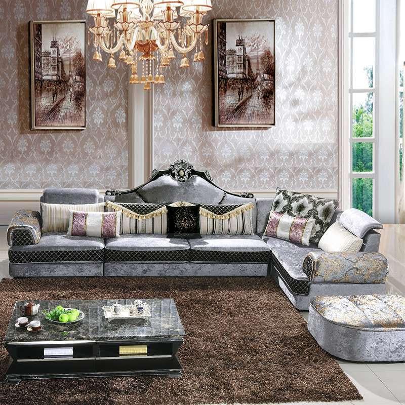 新款欧式风格组合布艺沙发
