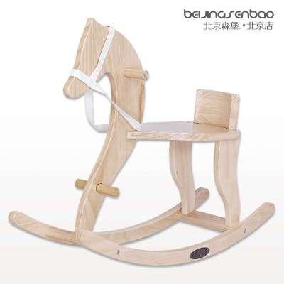 儿宝宝木马摇椅实木图片
