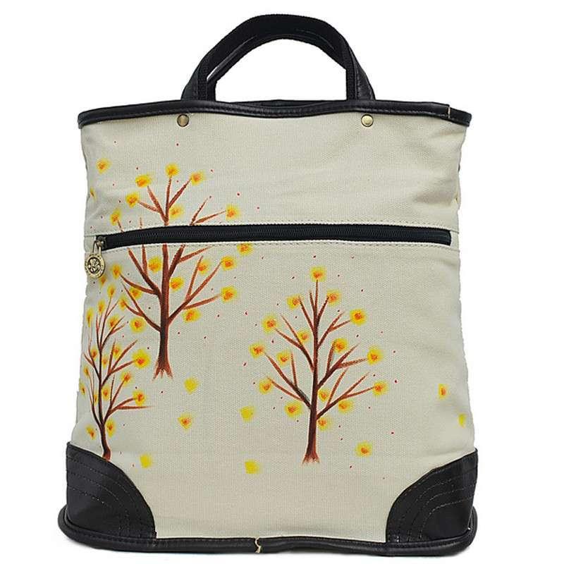 公主个性创意手绘树木景色帆布手提包f-g017