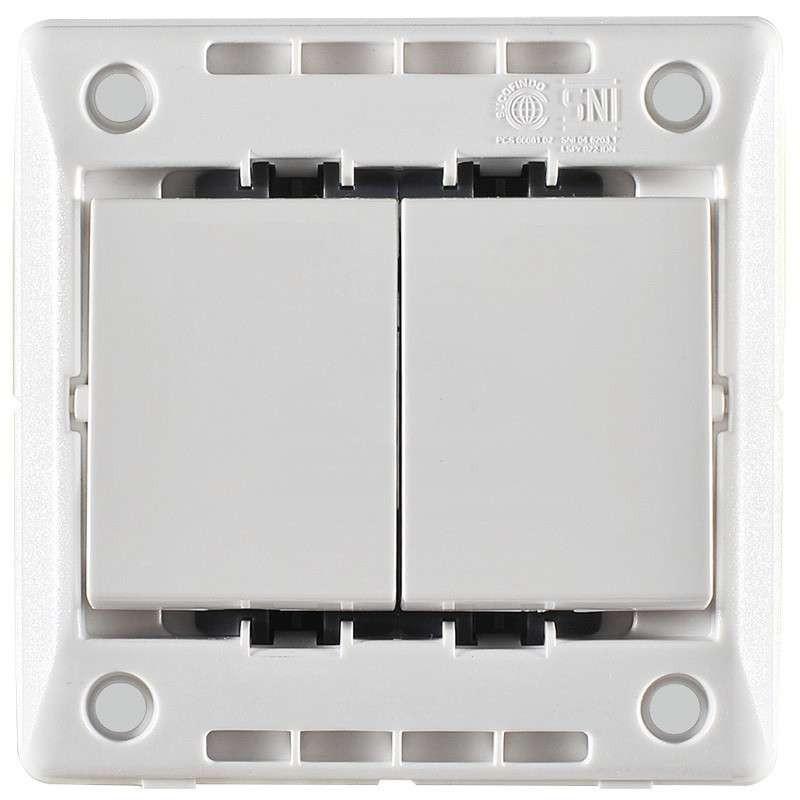 开关插座面板 仕界系列双开双控开关