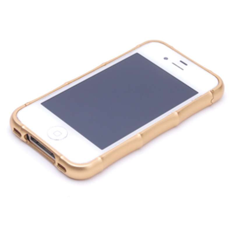 尔特(erte)苹果4s手机壳航空铝金属竹子边框手机保护