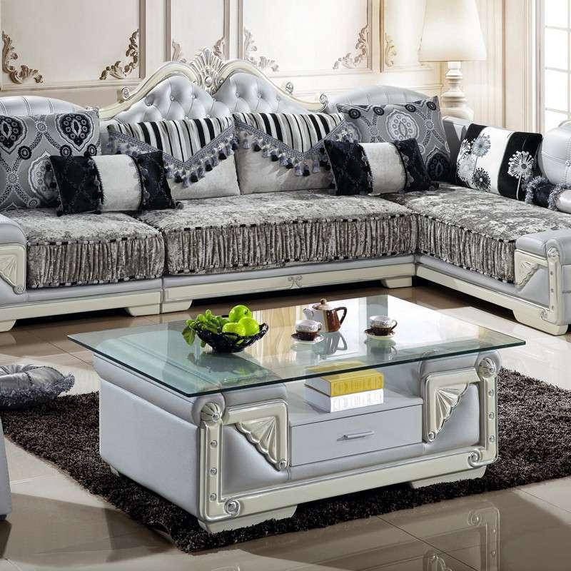 现代 可拆洗欧式古典实木客厅布艺沙发