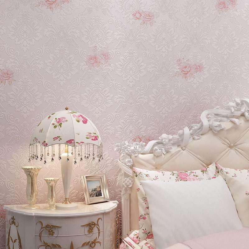 本木墙纸欧式复古卧室房间浪漫温馨田园小花无纺布墙